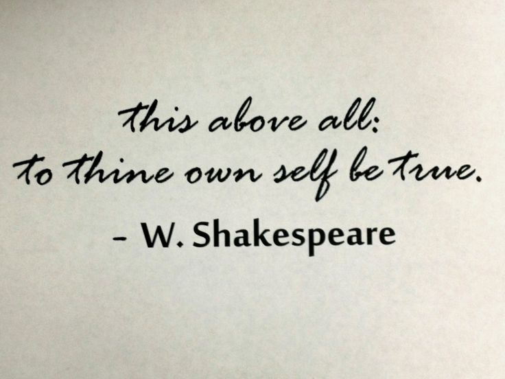 be true to yourself quotes shakespeare